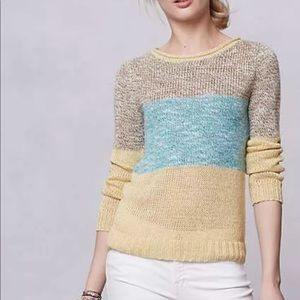 Anthropologie $98 Sunk Daffodil pullover sweater M
